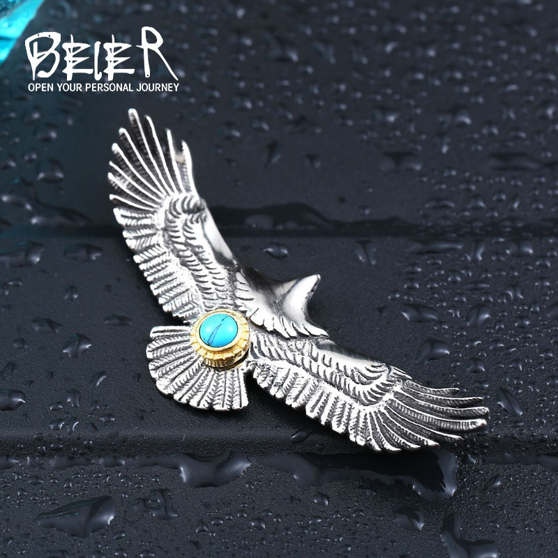 Beier 316L Stainless Steel pendant necklace eagle design style pendant popular for Japan  jewelry  BP8-192