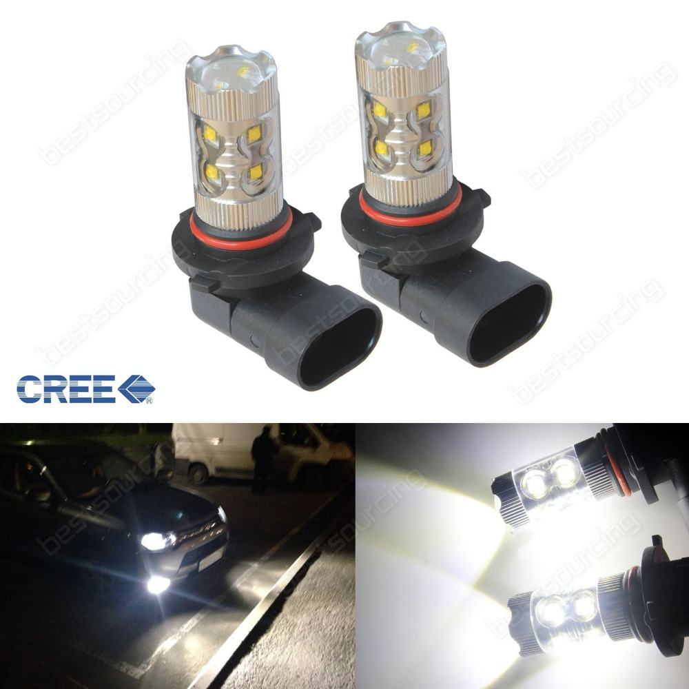 2x HB3 9005 LED Bulb 50W Projector Daytime Sidelight DRL Fog Light Lamp 12V(CA299) qvvcev 2pcs new car led fog lamps 60w 9005 hb3 auto foglight drl headlight daytime running light lamp bulb pure white dc12v