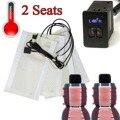 2 asientos 4 almohadillas de fibra de carbo n universal asiento con calefacción calentador 12 V Pads 2 Dial Interruptor de Nivel 5 Winter Warmer Asiento cubre