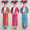 New Arrival Women Qing Dynasty Costume Chinese Folk Costume Femal Cheongsam with Headdress & Scarf Movie Princess Costume16