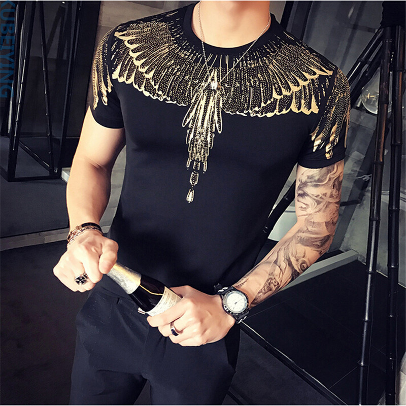 Summer Mens T Shirt 2017 New Fashion T Shirt Mens Clothing Trend Slim Fit Short Sleeve