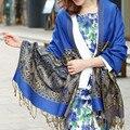 Дамы шарфы ретро имя марка шарф зимы длинные 2015 богемия платки женщины сгущает шарфы теплый полиэстер национальный стиль WJ079