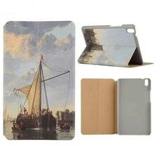 """Para huawei tablet tab2 case flip pu leather cases cubierta de impresión delgado 8 tableta del soporte de shell para huawei honor 2 jdn-w09 """"protective"""