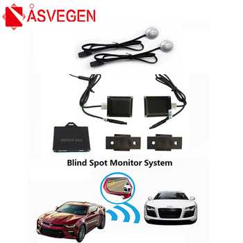Asvegen BSD BSA Radar Blind Safer Spot Detection System Microwave Blind Spot Monitoring BSM Car Driving Security Warning Buzzer