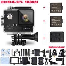 "RICH Action Camera NTK96660 Wifi Ultra 4K 3840*2160P 24FPS 16MP 170D Lens 2.0"" Mini Cam Go Waterproof Pro Sports Camera"