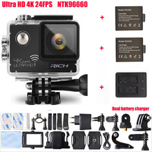 RICH Action Camera NTK96660 Wifi Ultra 4K 3840*2160P 24FPS 16MP 170D Lens 2.0″ Mini Cam Go Waterproof Pro Sports Camera