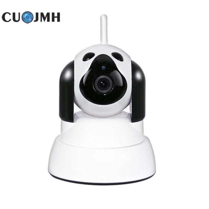 White Cartoon Dog Household Surveillance Cameras Infrared Ray High Definition Wifi Remote Mobile Phone Intelligence Camera цены