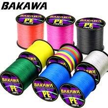BAKAWA Brand 300M 4-strand Japan Multifilament PE 100% PE Braided Fishing Line 10 12 18 28 35 40 50 60 80 100 120LB