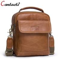 CONTACT'S Men bag Genuine Leather Men Shoulder Bags handbag High Quality Messenger Bag Business briefcase Men's Travel Bags new