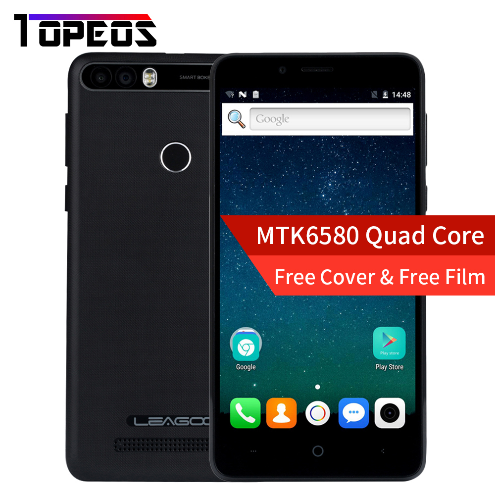 Leagoo KIICAA POWER Smartphone 5,0 ZOLL Android 7.0 MTK6580 Quad Core 2 GB + 16 GB Fingerabdruck 8MP 4000 mah WCDMA 3G Handy