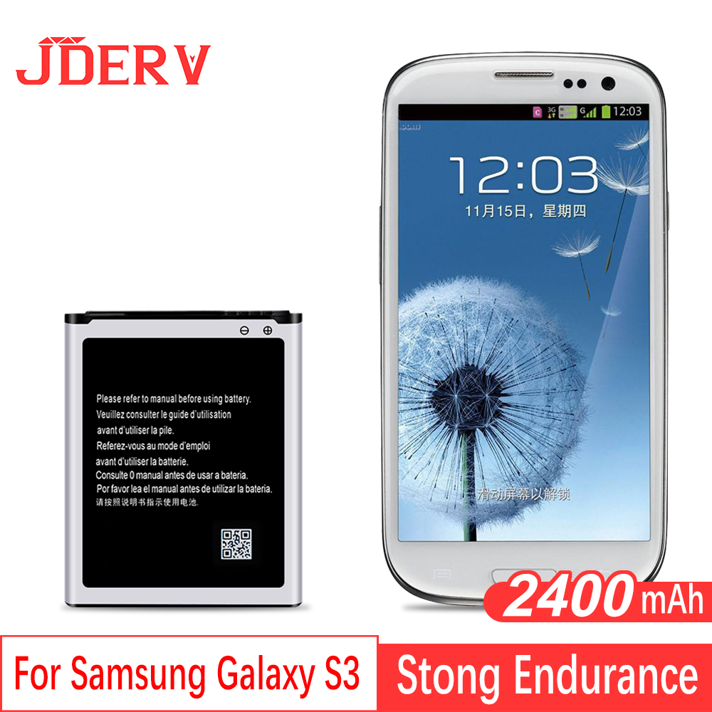 Batterie Rechargeable Pour Samsung Galaxy S3 i9300 i9082 i9060 i9301 Grand Duos Neo 2400 mah Batteries Pour Samsung S3 Batterie NFC