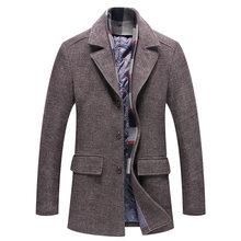 Новое мужское шерстяное пальто осенью и зимой 2018, Мужская утолщенная  Мужская шерстяная твид windbreake( dc1cd6fae5c