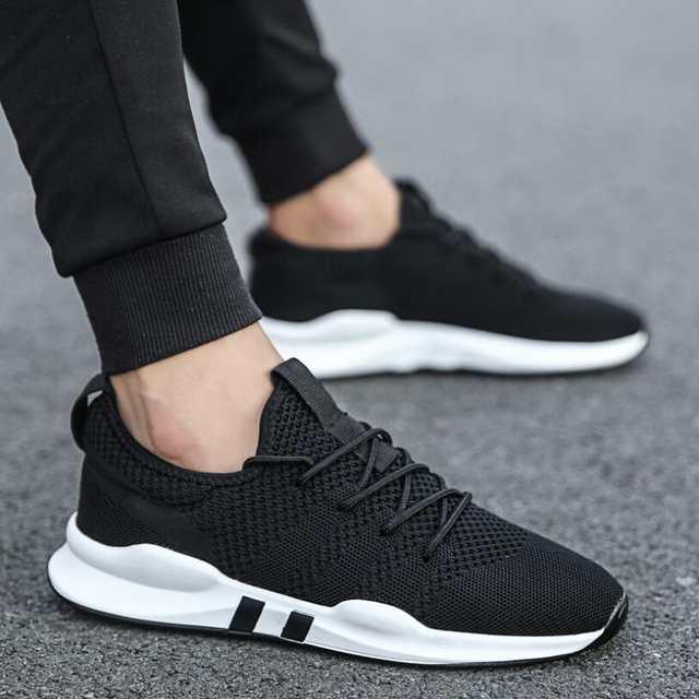 100% genuino buena venta estilo máximo OLOMLB 2019hot zapatos para Hombre Zapatos Deportivos ligeros transpirables  antideslizantes zapatos casuales para adultos zapatos de moda Hombre negro