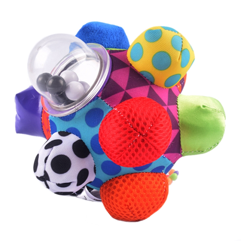 Baby Rattles Ball Grasping Baby Fun Ball Cute Plush Soft Cloth Hand Rattles Education Toys Children Gift Toy Improve Your Chil