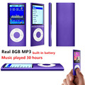 slim 4th gen mp3 player real 8GB 9 Colors for choose Music playing time 30Hours fm radio video player