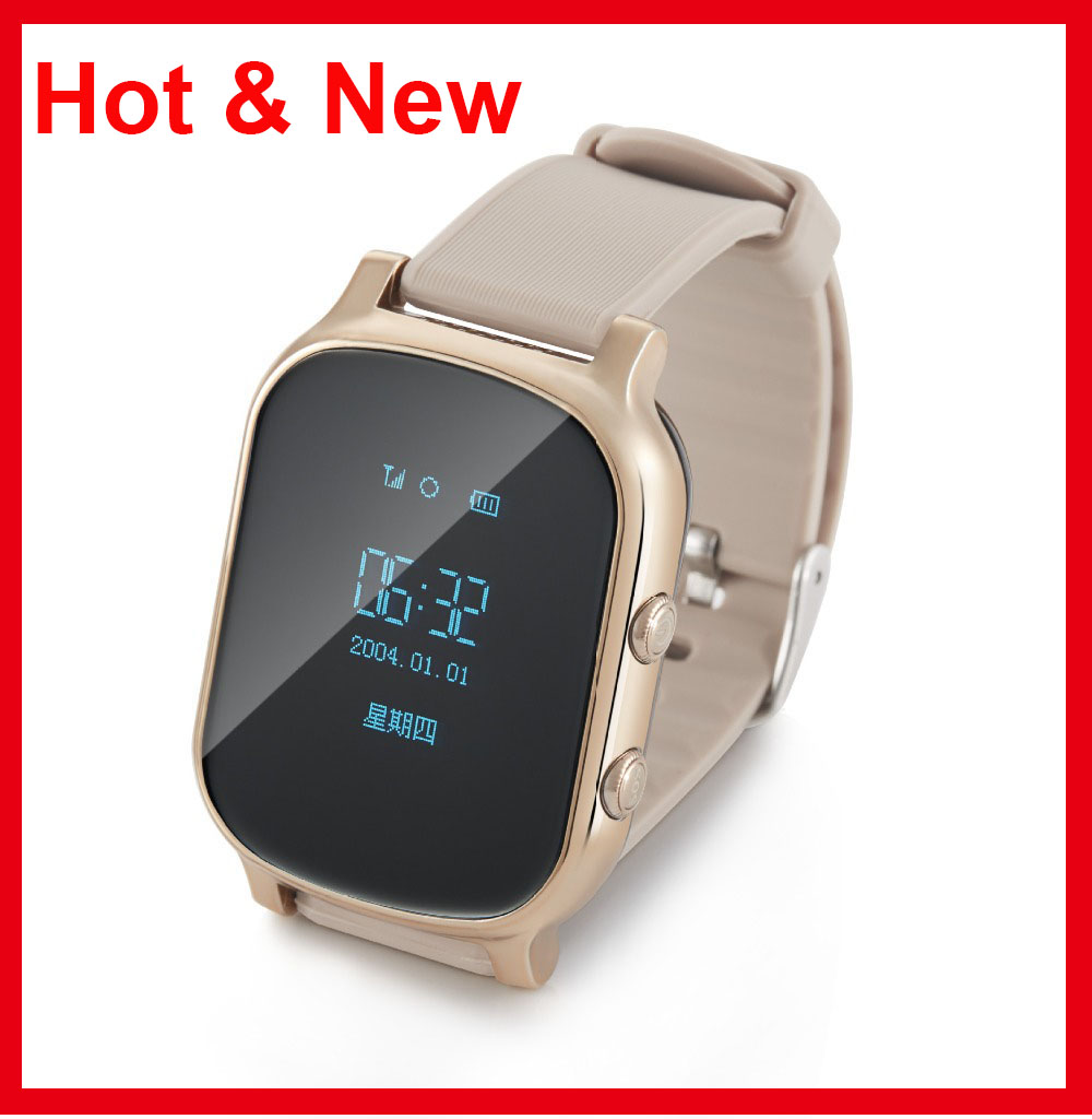 Hot Kids Gsm Gps Tracker Sim For Children Kid Smart Watch Phone Smartwatch Q50 With Card Black Bracelet T58 Watchs Ios Android