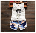 2016 Summer new baby boy clothes high quality fashion style boys clothing set for 1 2 3 years old A006