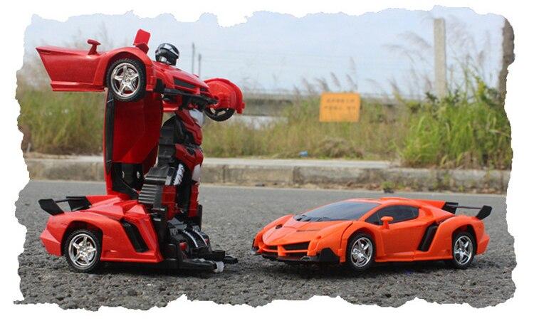 Carros de Brinquedo para Passeio modelos de transformação robots deformação Canais de Controle : 4 Canais