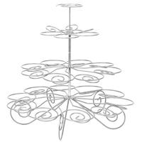 4 Tier 23 Cup Metal Christmas Tree Design Cupcake Display Stand Holder Party Supplies