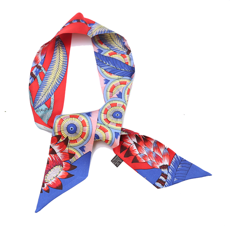Apparel Accessories Sincere Monkey Print Scarf Women Pure Twill Silk Ribbon Bag Hat Headband Hairband Neck Head Scarves 85x5cm Kcj82 Pleasant In After-Taste