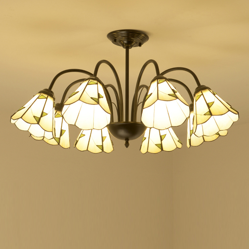 Antique colored glass Kitchen lighting chandelier for Bar Restaurant showcase arts & crafts Lighting Lampadario Moderno LED E27