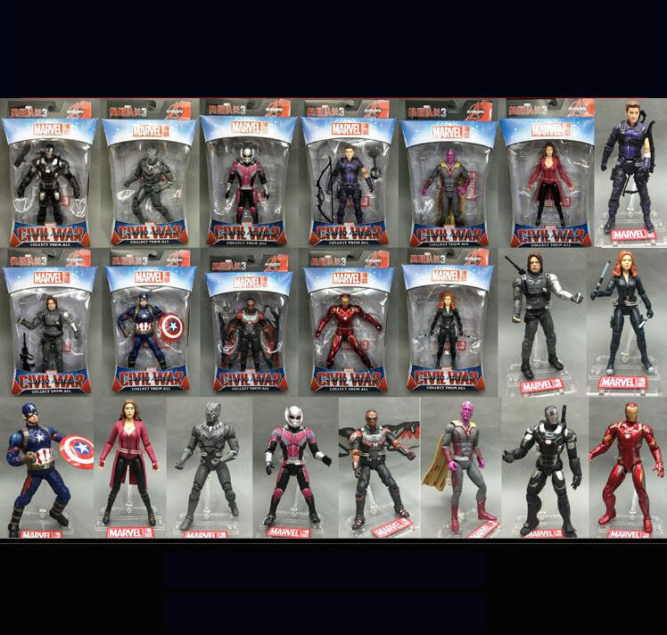 XINDUPLAN Marvel Shield Avengers Ant Spider iron Man Captain America Winter Soldier Black Panther Widow Action Figure 17cm 0787 hottoys1 6th scale scarlett johansson black widow ver3 0 captain america the winter soldier 12 action figure doll model toy