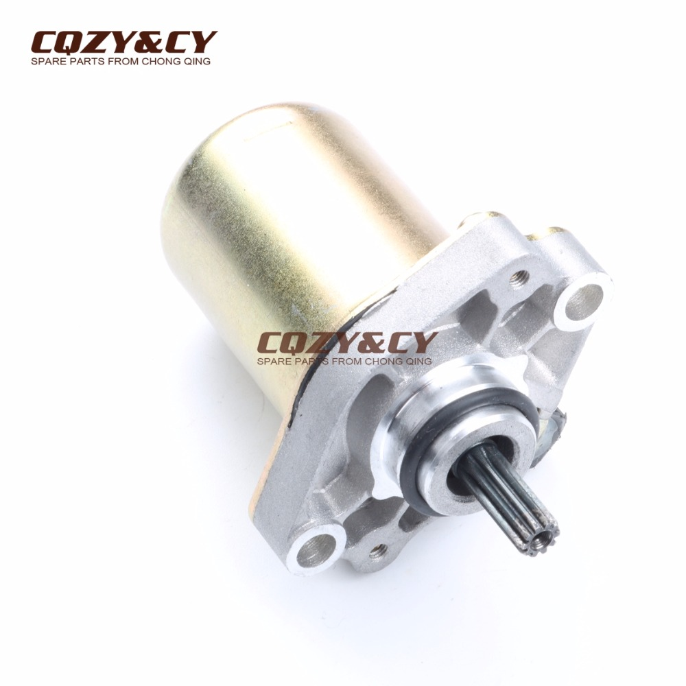 US $35 99 |10 teeth Electric starter motor for DERBI 50 Atlantis Hunter  Paddock Predator 50 Predator 50cc 00G03901991-in Motorcycle Motor from