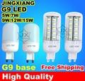 G9 CONDUZIU a lâmpada 3 W 5 W 7 W 9 W 12 W 15 W lâmpada LED 120 V 110 V 220 V 230 V 240 V lampada luz ultra brilhante branco Quente branco Frio frete grátis