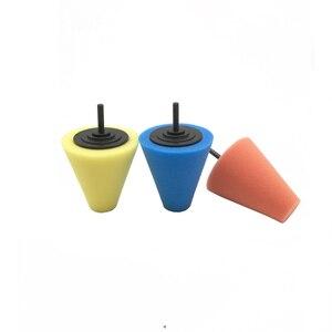 Image 5 - 7 Uds. De almohadillas pulidas para Manilla de puerta de coche, almohadillas pulidas para buje de rueda, almohadilla para pulir, esponja con forma de cono de esquina automática