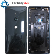 New For Sony Xperia XZ2 Back Battery Door Cover Rear Door Housing H8216 H8266 H8276 H8296 rear back glass Case with Camera Lens