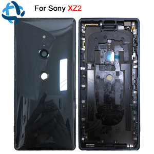 Image 1 - New For Sony Xperia XZ2 Back Battery Door Cover Rear Door Housing H8216 H8266 H8276 H8296 rear back glass Case with Camera Lens