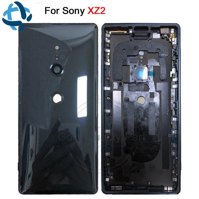 جديد لسوني اريكسون XZ2 عودة غطاء باب البطارية الباب الخلفي الإسكان H8216 H8266 H8276 H8296 الخلفية الزجاج الخلفي مع عدسة الكاميرا