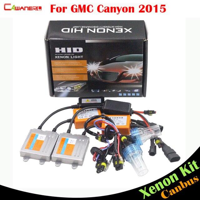 cawanerl 55w car canbus ballast bulb error free hid xenon kit ac  3000k-8000k auto headlight for gmc canyon 2015 high lumens !