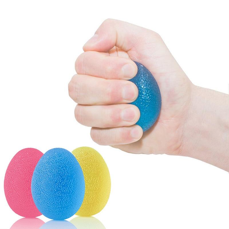 Blue Soft Silicone Grip Egg Massage Ball Hand Expander Fitness Equipment