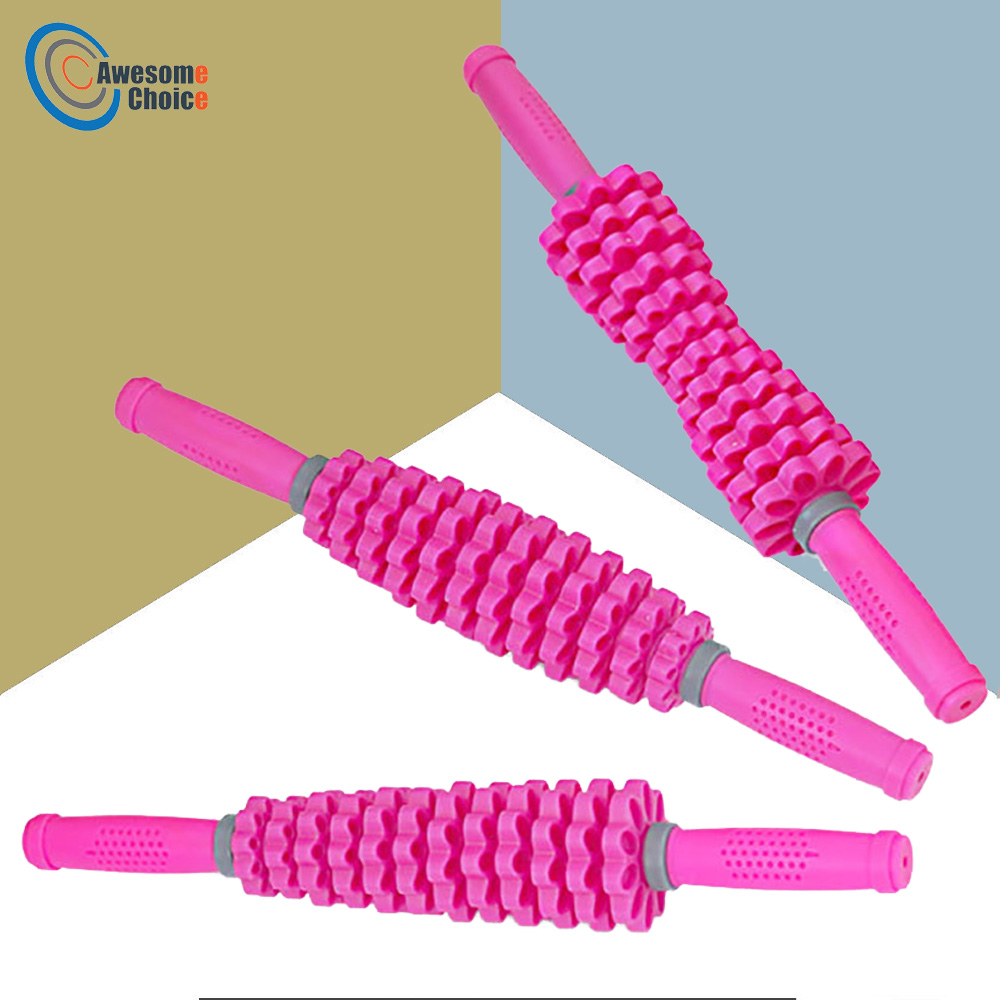 3 In 1 Detachable 12 Gears Adjustable Muscle Roller Massage Stick For Yoga Block Deep Tissue Massage 3 Color