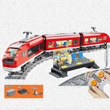 763pcs city rc remote control motor control passenger train