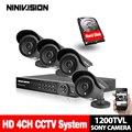 Kit DVR CCTV 1200TVL 4CH 720 p Impermeável Ao Ar Livre Câmeras IR DVR Recorder CCTV Segurança Kit conjunto de Sistema 3g, wiFi, p2p, vista móvel