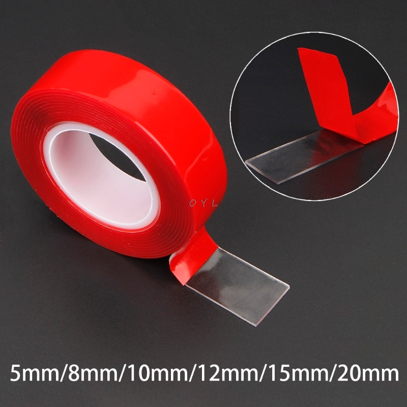 Red Double Sided Adhesive Sticker Tape Ultra High Strength Mounting Transparent No Traces Sticker For Car Auto Interior Fixed