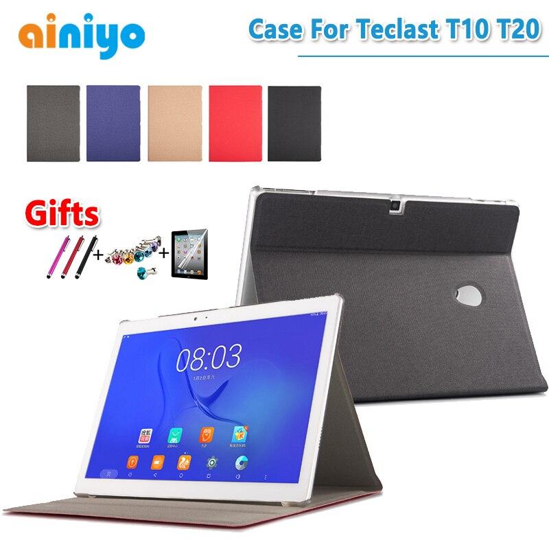 """Bilgisayar ve Ofis'ten Tabletler ve e-Kitaplar Kutu'de Yüksek kalite moda pu deri kılıf kapak Için 10.1 """"yeni Teclast T10 T20 Tablet PC + koruyucu + stylus hediyeler title="""