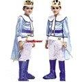Мальчик Дети Prince Король Fancy Dress Костюмированный Бал Косплей Children'Day irthday Партии Хэллоуин Рождество Маскарад Подарок