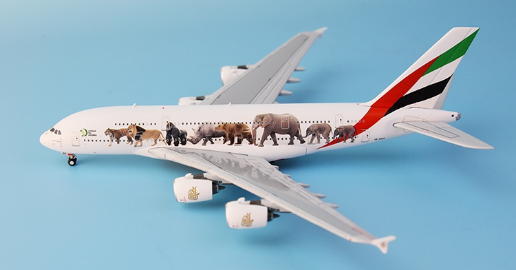 New product GeminiJets 1: 400 GJUAE1594 Emirates A380-800 Wild animal painting Alloy aircraft model Collection model Holiday beerotor victory 230 mini fpv racing drones quadapter arf fully assembled racer
