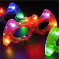 10pcs/lot Halloween party supplies colorful bat glasses toy led blinking sunglasses glow mask glasses cartoon light up kids toys