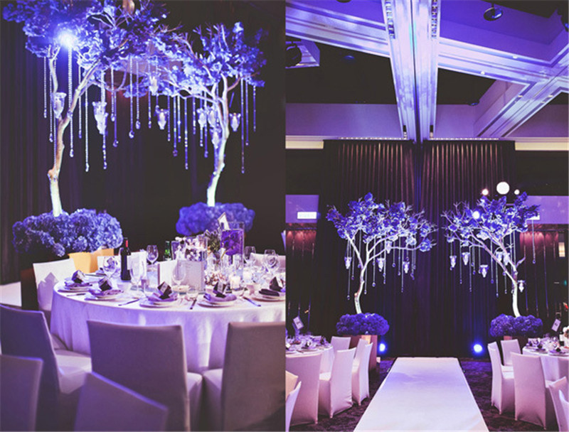 hanging crystals for wedding centerpieces. aliexpress.com : buy 1 m 3.3 feet / rainbow hanging crystal acrylic bead curtain diy street garland wedding party core decorated christmas tree from crystals for centerpieces r