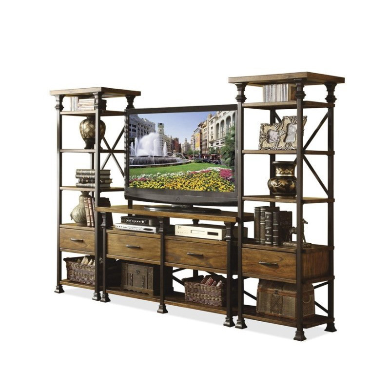 American iron iron wood tv cabinet to do the old multi purpose living room furniture custom made - Living room multi use shelf idea ...