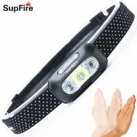 Faro USB con Sensor LED, faro delantero, Linterna Manos libres, lámpara de gancho HL05 1000lm para Fenix Nitecore Linterna S142