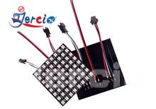 JERCIO 8*8/8*32/16*16 Black/white PCB XT1511-RGB(Similar with ws2812b) 256 gray level programmable Flexible LED Pixels Panel. rgb led light matrix ws2812b flexible screen panel apa102 flexible led panel matrix