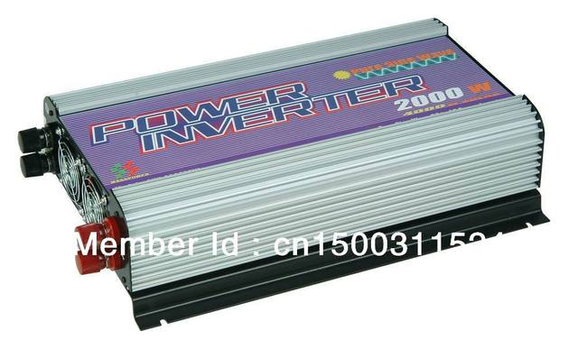 Free shipping,2000W Pure sine wave power inverter (SUN-2000PSW),MPPT Function,Wholesale with coupon