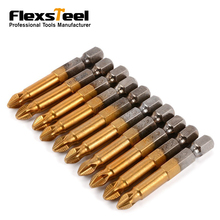 Hot Sale 10PCS CRV Precision Magnetic Double End PH2*50MM Phillips Screwdriver Bits to Electric Screwdriver hammer flex 601 036 screwdriver with a set of bits 11 crv items