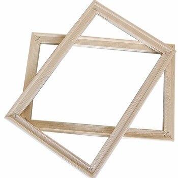 простой 4050 см деревянная рамка Diy фоторамки Art подходит для
