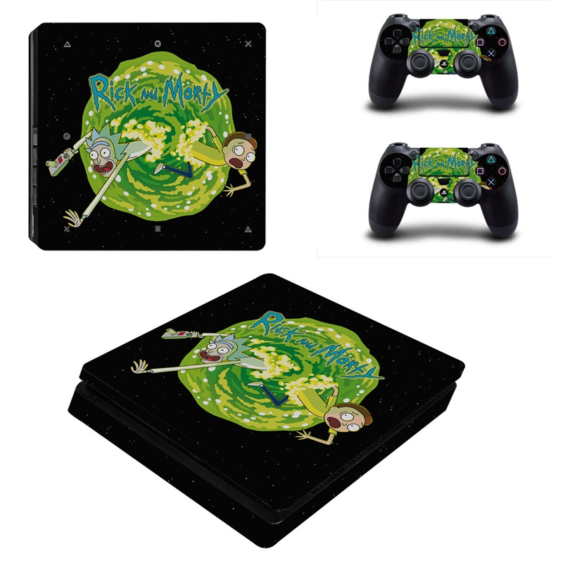 Image 2 - HOMEREALLY PS4 Stickers Rick and Morty PS4 Slim Skin Sticker PS4 Skin Sticker For Sony PlayStation 4 Console and Controller Skin-in Stickers from Consumer Electronics
